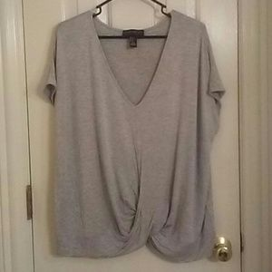 Forever 21 plus twist front t shirt